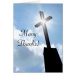 Gracias tarjeta de felicitación espiritual religio