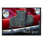 Gracias tarjeta de felicitación roja clásica del c