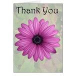 Gracias, tarjeta de felicitación rosada de la flor