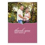 Gracias tarjeta de la foto de la fiesta de bienven