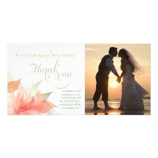 Gracias tarjeta de la foto del boda - blanco anara tarjeta fotográfica personalizada