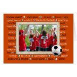 Gracias tarjeta de la foto por coche del fútbol