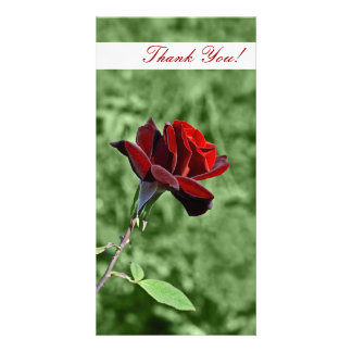 Gracias tarjeta de la foto tarjeta con foto personalizada