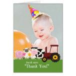 Gracias tarjeta de la granja de la foto