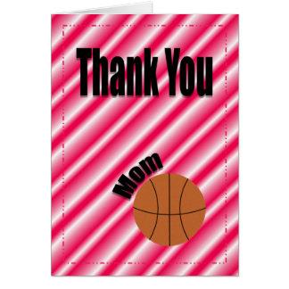 Gracias tarjeta de la mamá del equipo de
