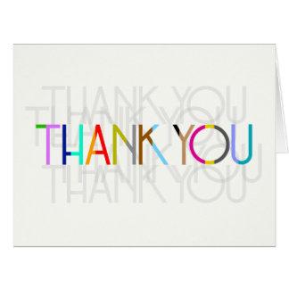 Gracias tarjeta de la tipografía (las opciones del