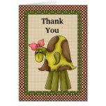 Gracias tarjeta de la tortuga