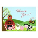Gracias tarjeta de los animales invitación 12,7 x 17,8 cm
