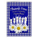 Gracias tarjeta de los flores de la margarita del