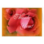 Gracias tarjeta de los rosas rojos