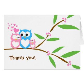 Gracias tarjeta de nota de la fiesta de bienvenida