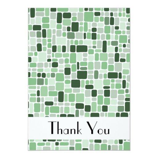 Gracias tarjeta de nota (el verde del guijarro) anuncios personalizados