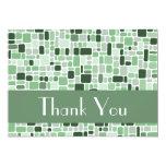 Gracias tarjeta de nota (el verde del guijarro) comunicados personalizados