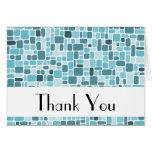Gracias tarjeta de nota (la aguamarina del guijarr