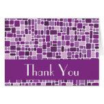 Gracias tarjeta de nota (la púrpura del guijarro)