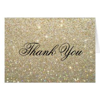 Gracias tarjeta de nota - oro Glit fabuloso