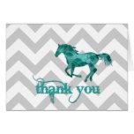 Gracias tarjeta del caballo