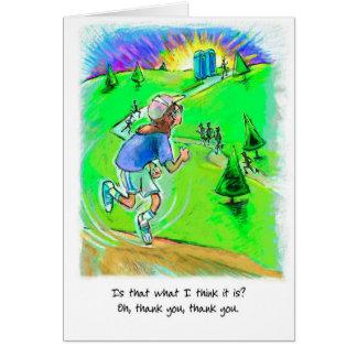 Gracias tarjeta del corredor - raza Puerto-o-Johns