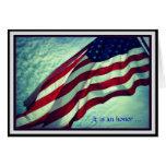 Gracias tarjeta del día de veteranos