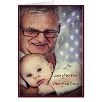 Gracias tarjeta del día de veteranos del papá