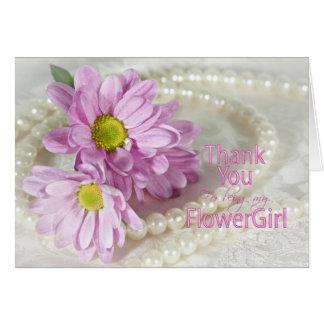 Gracias tarjeta del florista con las margaritas