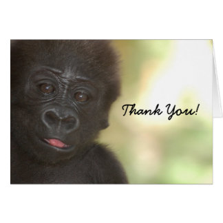 GRACIAS tarjeta del gorila del bebé