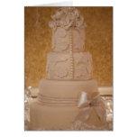 Gracias tarjeta del pastel de bodas