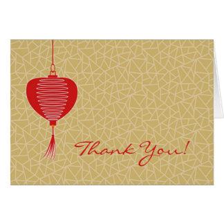 Gracias tarjeta doblada elegante asiática