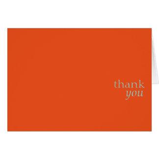 Gracias tarjeta-naranja tarjeta pequeña
