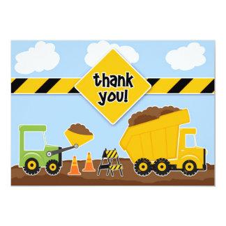 """Gracias tarjeta plana de la construcción invitación 5"""" x 7"""""""