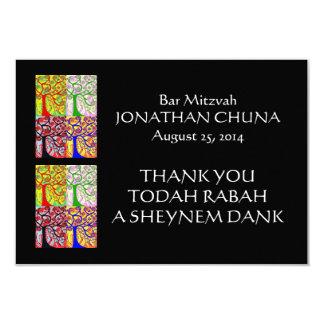 """Gracias tarjeta PLANA (el pequeño rectángulo) Invitación 3.5"""" X 5"""""""
