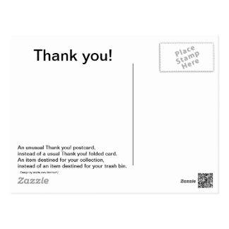 ¡Gracias tarjeta postal inusual