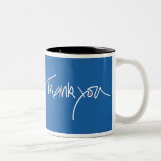 Gracias taza azul del coffe del trullo