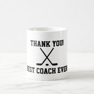 Gracias taza de café del coche de hockey