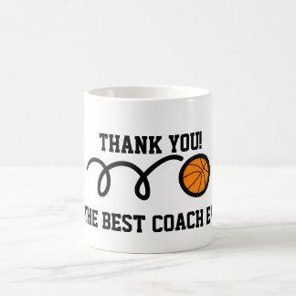 Gracias taza de café del entrenador de béisbol