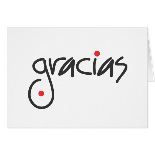 Gracias - thank you in any language card