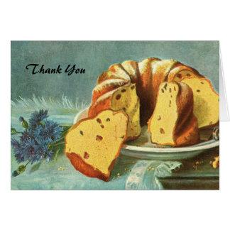 Gracias - torta de café para la compañía - anfitri tarjeta pequeña