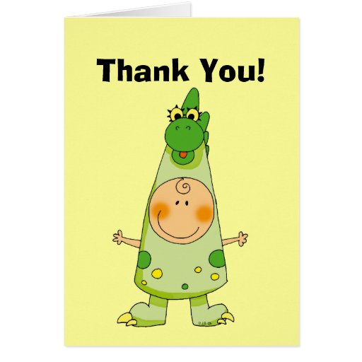 ¡Gracias! (traje del dragón) Tarjeta De Felicitación