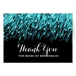 Gracias turquesa de las estrellas el caer de la tarjeta de felicitación