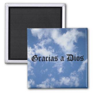 Gracias un Dios - sobre todo (negro) Imán Para Frigorifico