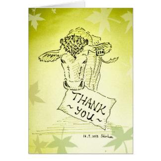 Gracias---- Vaca de Guernesey Tarjeta De Felicitación