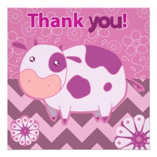 """""""Gracias"""" vaca rosada linda Comunicados Personales"""