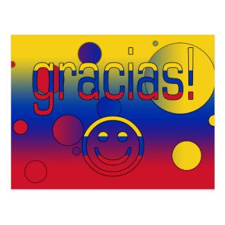 Gracias! Venezuela Flag Colors Pop Art Postcard