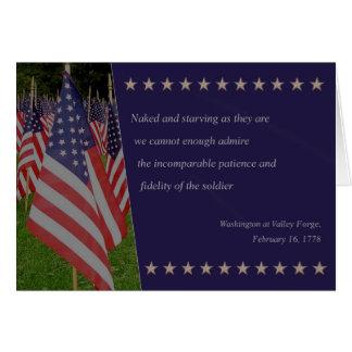 Gracias veterano tarjeta de felicitación