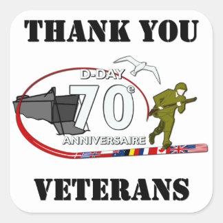 Gracias veteranos - Thank you veteranos Pegatina Cuadrada