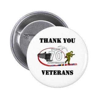 Gracias veteranos - Thank you veteranos Pin Redondo 5 Cm