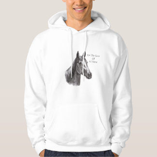 Gracie Charcoal Signed, For The LoveOfA Horse Sweatshirt