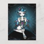 Gracie Gothic Couture Corset Fairy Postcard