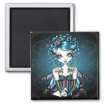 Gracie Gothic Couture Fairy 2 Inch Square Magnet