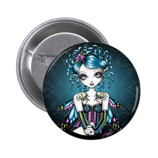 Gracie Gothic Couture Fairy Pinback Button